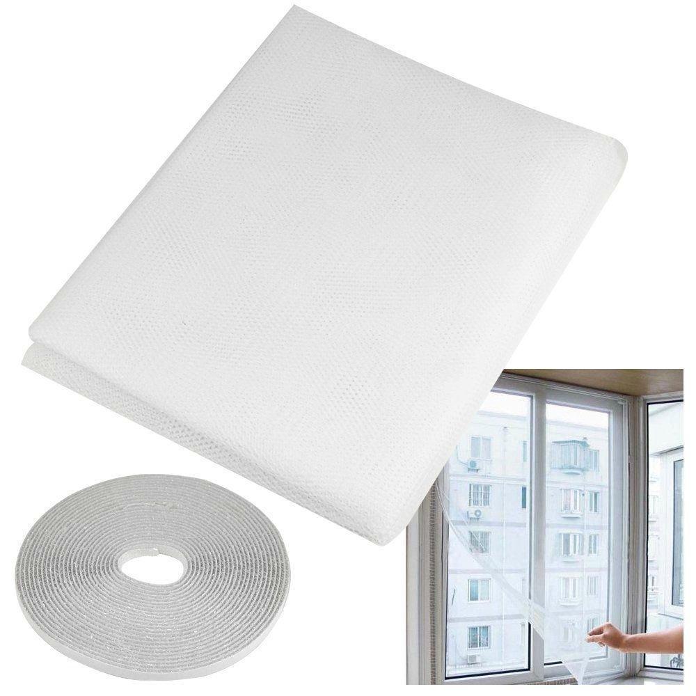 Onemoret fenêtre Moustiquaire en maille Velcro Net Bug Fly Moth Moustiquaire protection