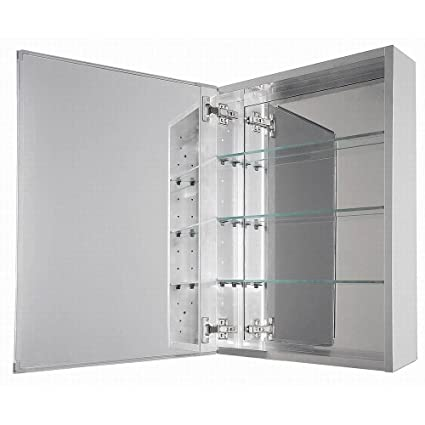 Glacier Bay 15 In. Battery Operated LED Mirrored Medicine Cabinet With  Motion Sensor