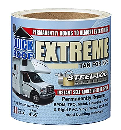 Cofair T-UBE406 Quick Roof Extreme with Steel-Loc Adhesive, Tan for RVs - 4' x 6' Tan for RVs - 4 x 6'
