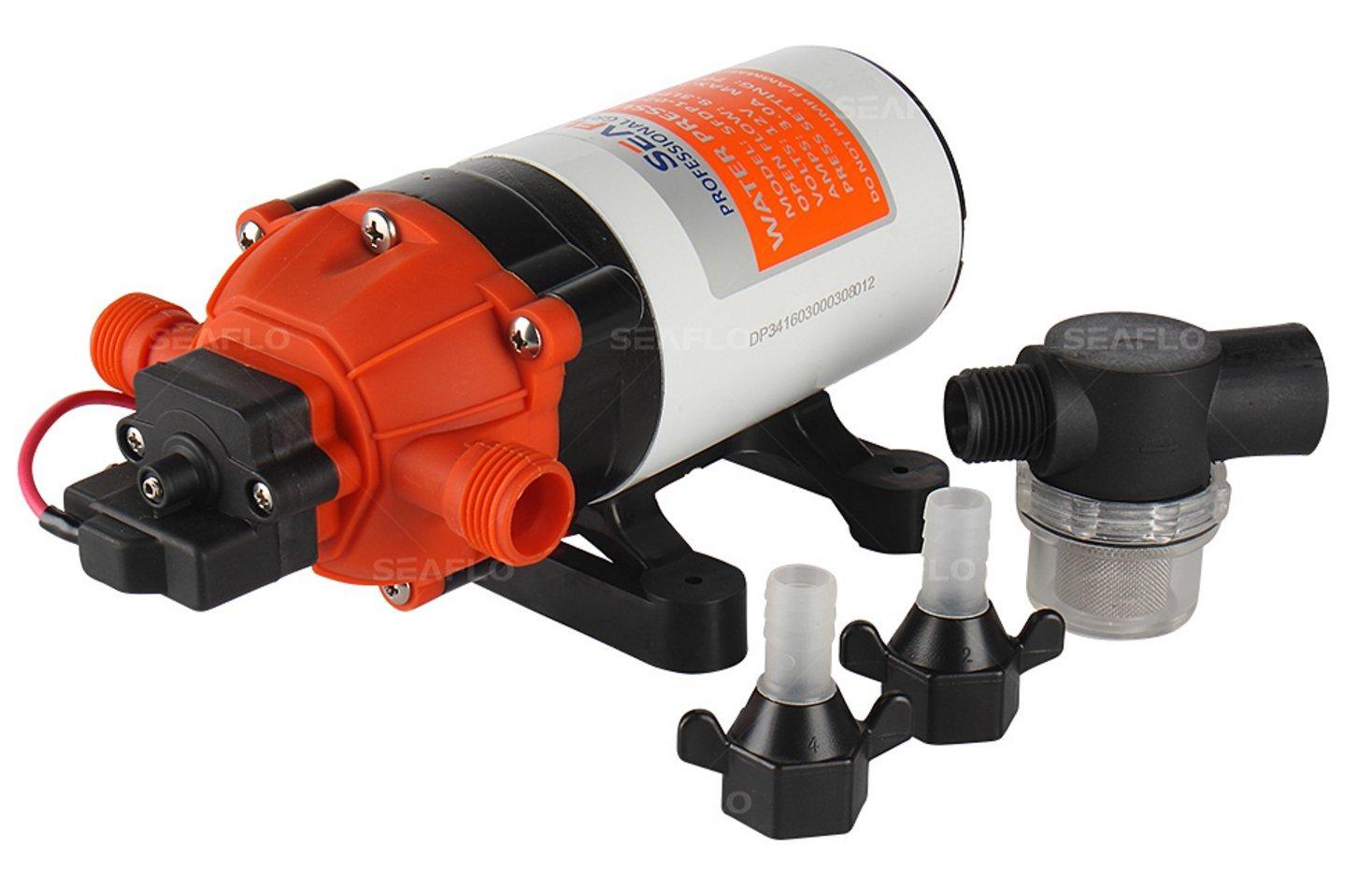 SEAFLO 12V 1.6 GPM 100 PSI 34-Series Water Pressure Diaphragm Pump by Seaflo (Image #2)