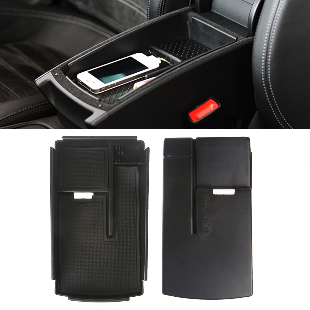 oukerst Center Console Armrest Secondary Storage Box Tray for VW Passat CC B6 B7 HM