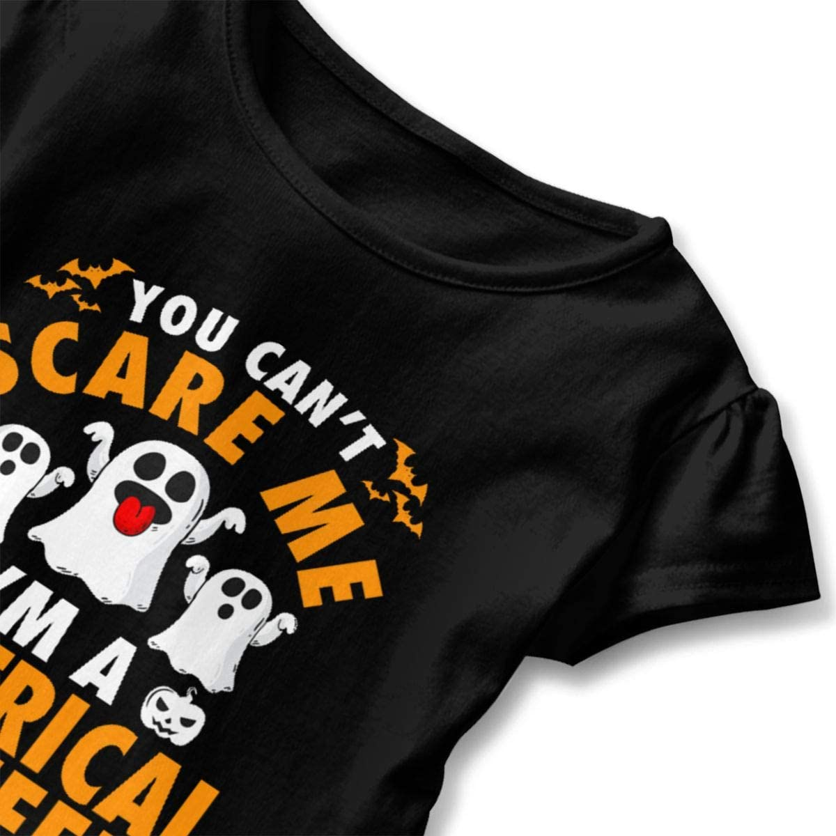 I Am an Electrical Engineer Shirt Baby Girls Flounced Casual Basic Shirt for 2-6 Years Old Baby Black