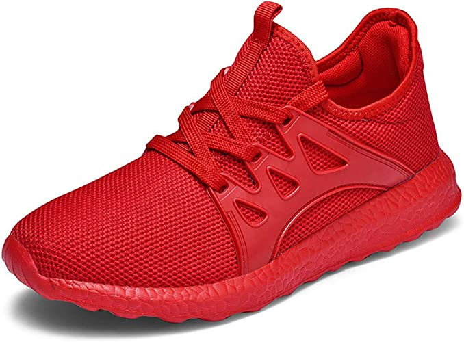 AZOOKEN - Zapatillas de Deporte Unisex Transpirables para Hombre y Mujer, Color Rojo, Talla 45 EU: Amazon.es: Zapatos y complementos