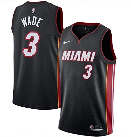 d80949277 Image Unavailable. Image not available for. Color: Nike Men's Miami Heat  Dwyane Wade Black Replica ...