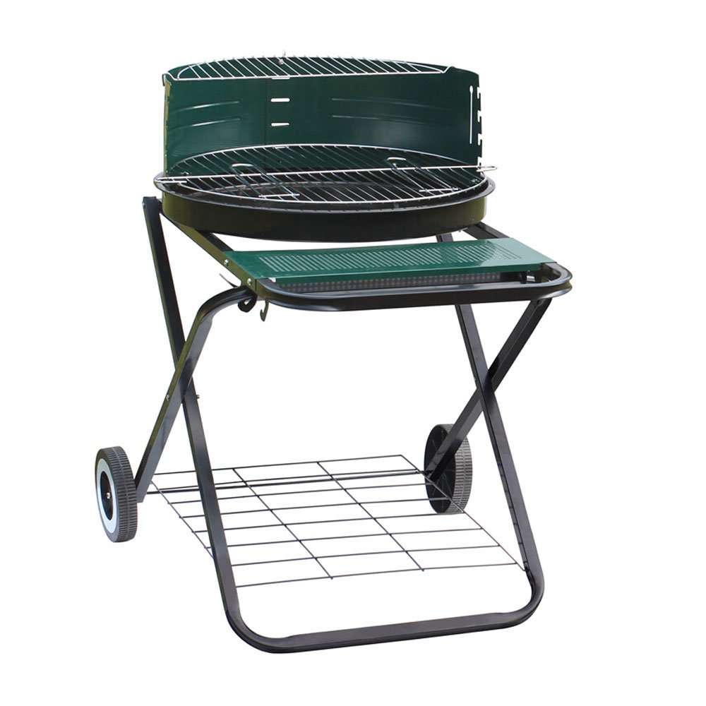 Outdoor Barbecue Grill Double Bottom Wheel Grill Barbecue Grill Portable Charcoal Foldable Oven Picnic Charcoal Oven