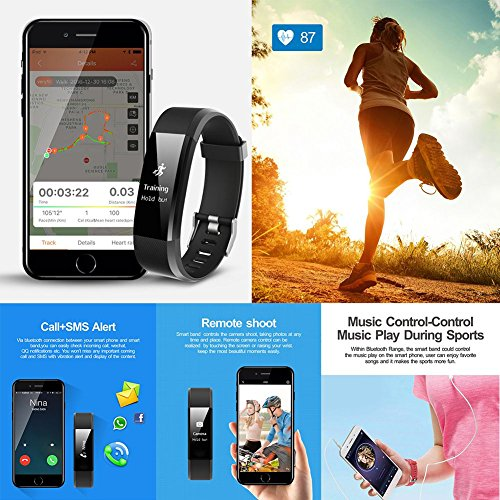 Sleep Device Monitoring,Supplylink Waterproof Fitness Tracker and Activity Watch Multi Health Bluetooth 4.0 GPS for Android/iOS,14 Kinds of Sports Mode by Supplylink (Image #2)