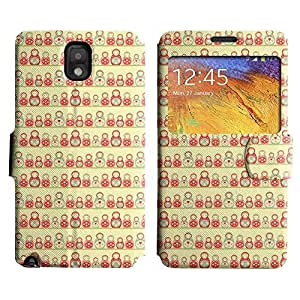 Be-Star Colorful Printed Design Slim PU Leather View Window Stand Flip Cover Case For Samsung Galaxy Note 3 III / N9000 / N9005 ( Amazing Figures ) Kimberly Kurzendoerfer