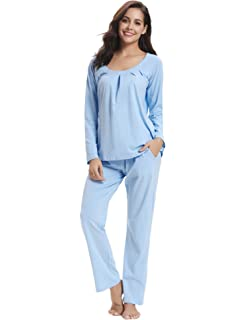 f35d9910a7 Aibrou Pijama Mujer Invierno Algodón Mangas Larga Pantalones Largo Ropa de  Domir 2 Piezas Otoño