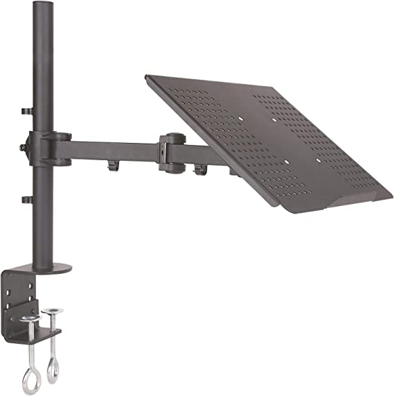 Drall Instruments Universal Tischhalterung Halterung Für Laptop Notebook Netbook Tablet Pc 10kg Belastbar Neigbar Schwenkbar Höhenverstellbar Laptophalter Tisch Ständer Schwarz Modell Lt10b Küche Haushalt