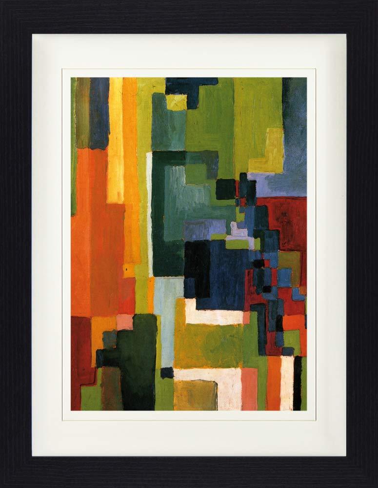 1art1 113500 August Macke Farbige Formen II 1913 Gerahmtes Poster F/ür Fans Und Sammler 40 x 30 cm