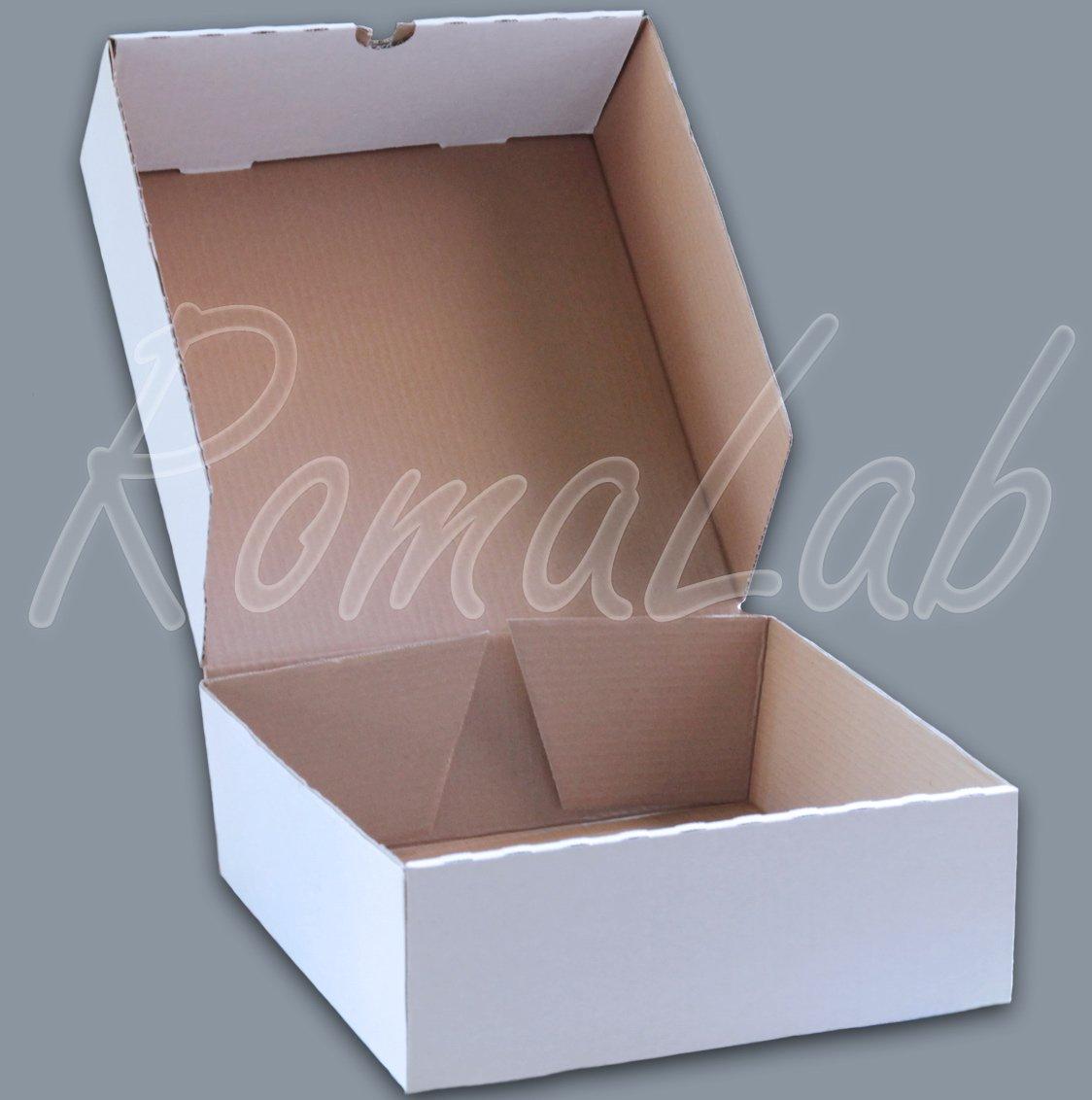 1 scatola fustellata BIANCA 34x32, 2x11 cm X torte spedizioni REGALI PASTICCERIA RomaLab.it