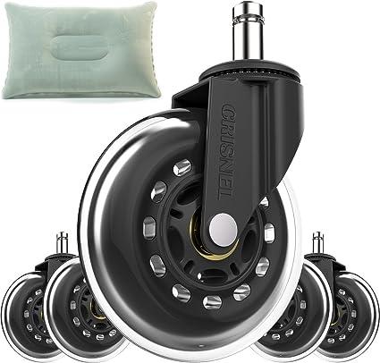 Flash venta silla de oficina Caster ruedas – Repuesto Rollerblade ruedas estilo con respaldo almohada –