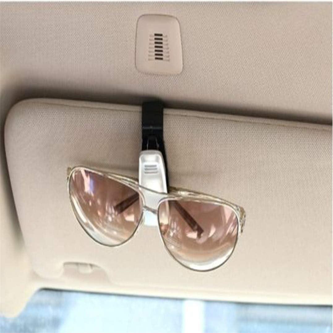 Sunglasses Mount with Ticket Card Clip Underleaf Glasses Holders for Car Sun Visor