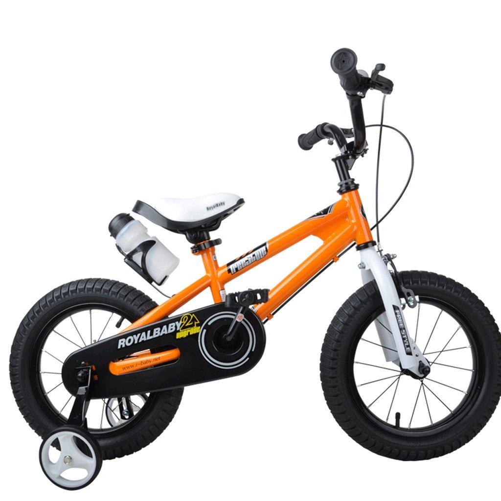 子供の自転車の男の子の女の子の自転車2歳から12歳のベビーキャリアの学生MTB (色 : オレンジ, サイズ さいず : 18 inches) B07D34YJCZ 18 inches|オレンジ オレンジ 18 inches