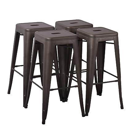 Amazoncom Changjie Furniture 30 High Backless Metal Bar Stool