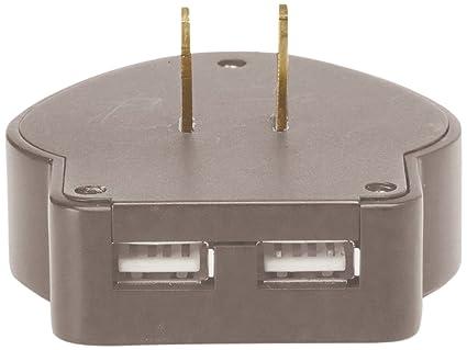 Wenger USB Reise-Ladegerät 2-fach - Accesorio para mochilas, color gris,