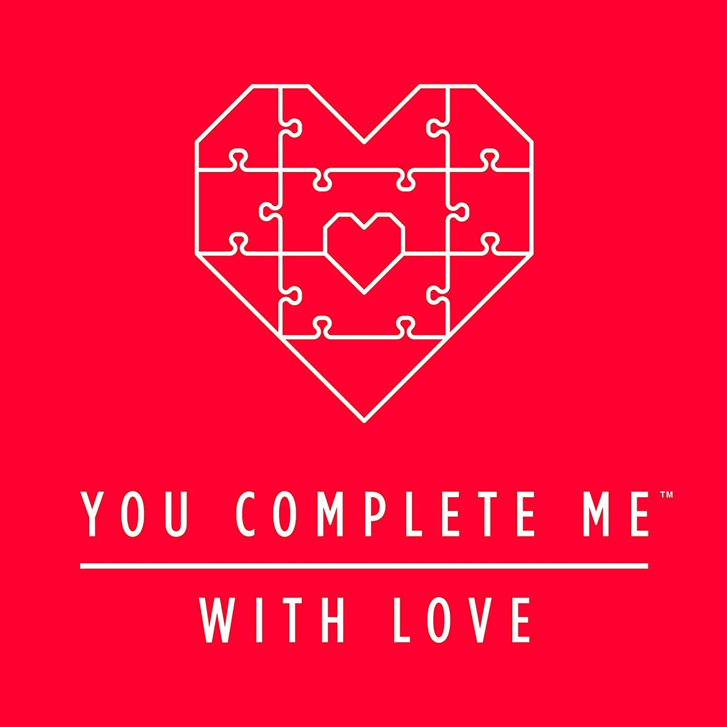 10 Piece Set You Complete Me Heart Shaped Jigsaw Puzzle Unique Love Card With Personalized Romantic Message Red