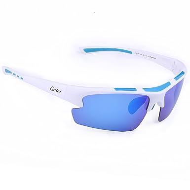 Sport Sonnenbrille, Carfia Polarisiert Herren Sonnenbrille Outdoor Sportbrille für Laufen Reiten Ski Autofahren Golf Angeln Laufen Radfahren, 100% UV400 Schutz