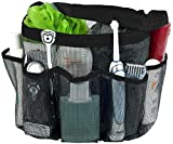 Kyпить Attmu Mesh Shower Caddy, Quick Dry Shower Tote Bag Oxford Hanging Toiletry and Bath Organizer with 8 Storage Compartments for Shampoo, Conditioner, Soap and Other Bathroom Accessories, Black на Amazon.com
