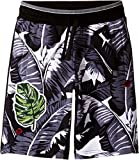Dolce & Gabbana Kids Boy's Banana Leaf Shorts (Big Kids) Black Shorts