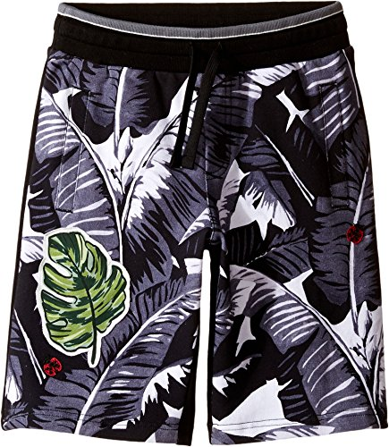 Dolce & Gabbana Kids Boy's Banana Leaf Shorts (Big Kids) Black Shorts by Dolce & Gabbana