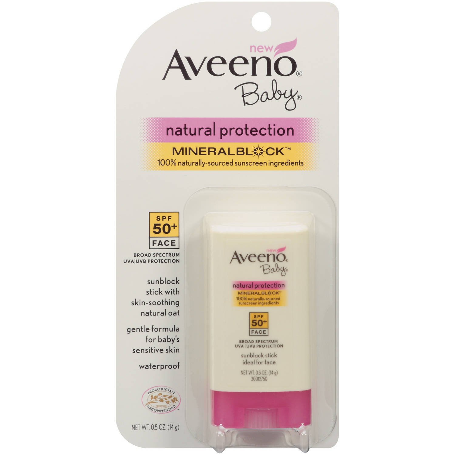Aveeno Natural Protection Spf50+Baby Mineral Stick 0.5oz 381371018703
