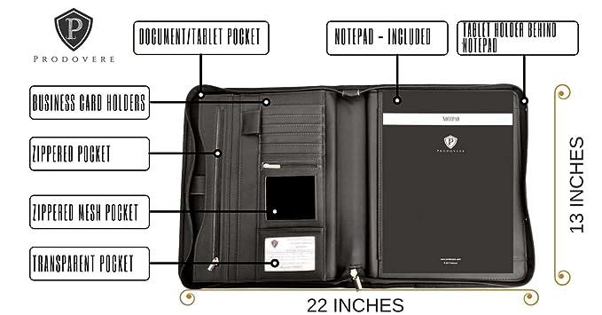 Profesional reanudar Ejecutivo de negocios cartera portadocumentos organizador piel sintética iPad Funda para Tablet iPad Mini, listo para su uso - ...