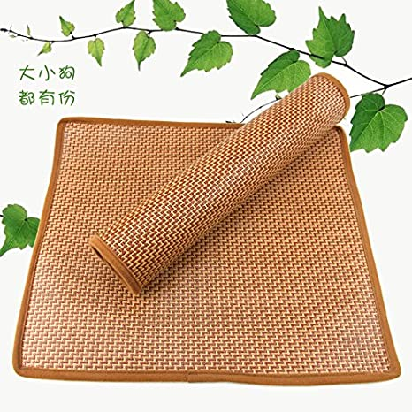 aemember el caseta para mascotas woltedi mate alfombra bambú alfombra de verano Cool Pet Pet Heat: Amazon.es: Productos para mascotas