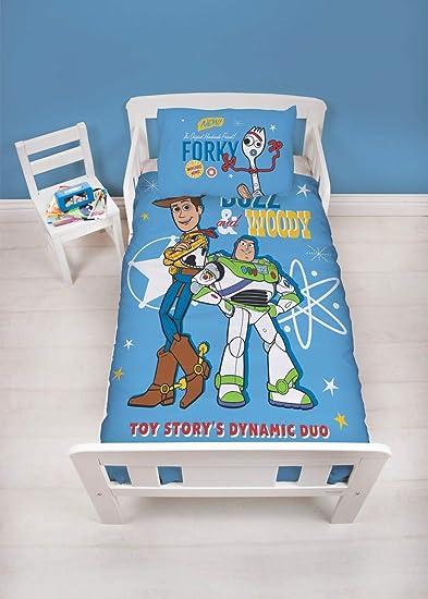 Copripiumino Toy Story.Disney Set Copripiumino Matrimoniale Toy Story 4