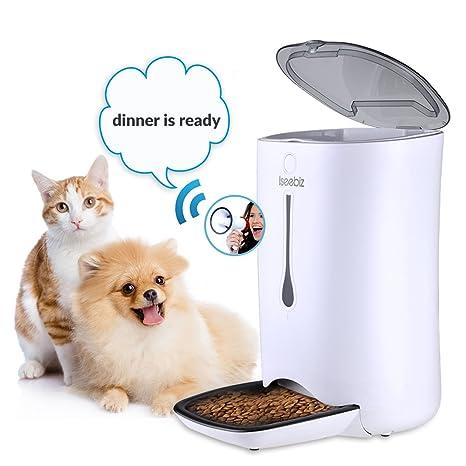 iseebiz 7L Perros – Comedero automático dispensador de alimento para perros y gatos con/Función