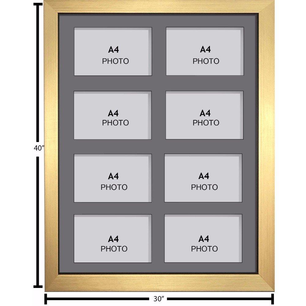 Amazon.de: Große Multi Bilderrahmen Blende Rahmen, Größe A4 mit 8 ...