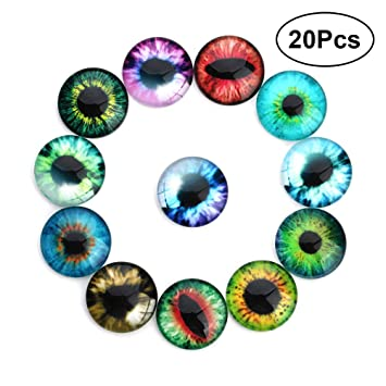 200 Stück Wackelaugen 0,5 bis 1,5 cm Groß Basteln Googly Eyes Wackel Augen