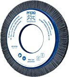 PFERD 83763 M-BRAD Composite Radial Wheel Brush, Silicon Carbide Grain, 14'' Diameter, 5-1/4'' Arbor Hole, 1-1/2'' Trim Length, 1'' Face Width, 1800 rpm, 80 Grit