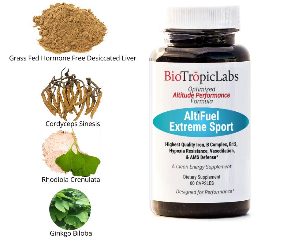 BioTrōpicLabs AltiFuel - Extreme Sports and Altitude Supplement - Grass Fed Hormone Free Desiccated Liver Version