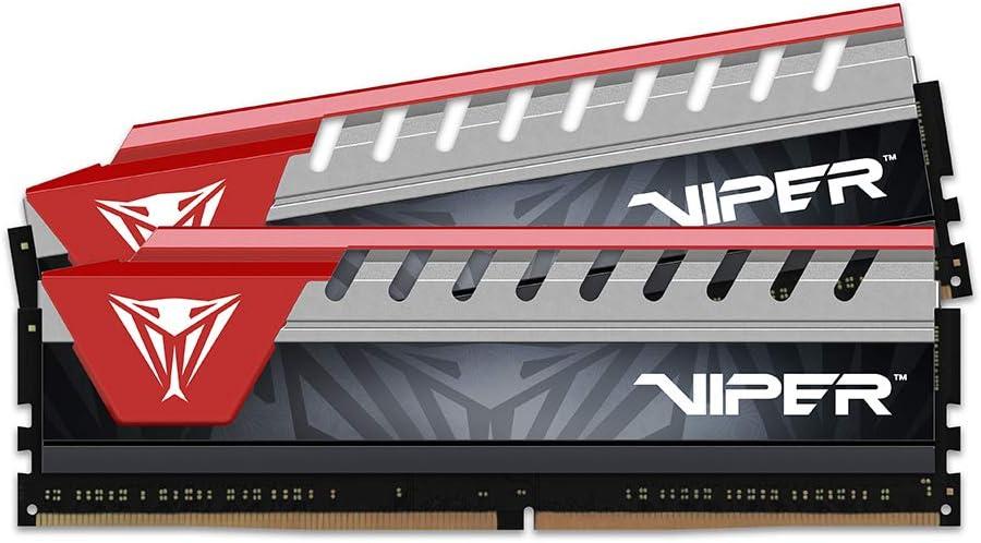 PC4-22400 2800 MHz Memory Module Silver//Red 2 x4GB Patriot Viper Elite Series DDR4 8GB - PVE48G280C6KRD