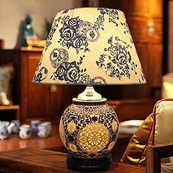 SDKKY Decoración moderna lámpara de mesa, lámpara de mesa de ...