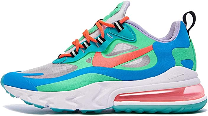 síndrome arco Amanecer  Nike W Air Max 270 React At6174-300 - Zapatillas deportivas para mujer,  talla 38: Amazon.es: Zapatos y complementos