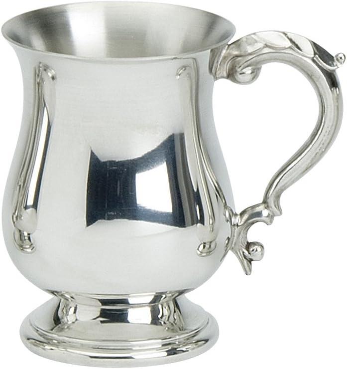 Edwin Blyde & Co Tradicional georgiano con Forma de 1Pinta Jarra con pie sólido y de Metal–Cuerpo de diseño georgiano con diseño de Mango georgiano, Peltre