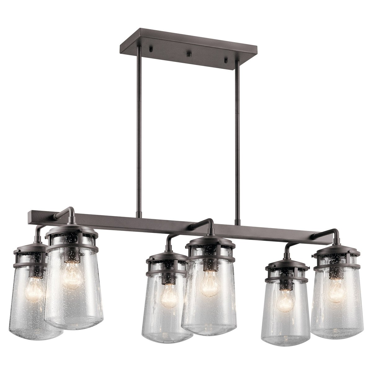 Kichler 49835AZ Six Light Outdoor Linear Chandelier