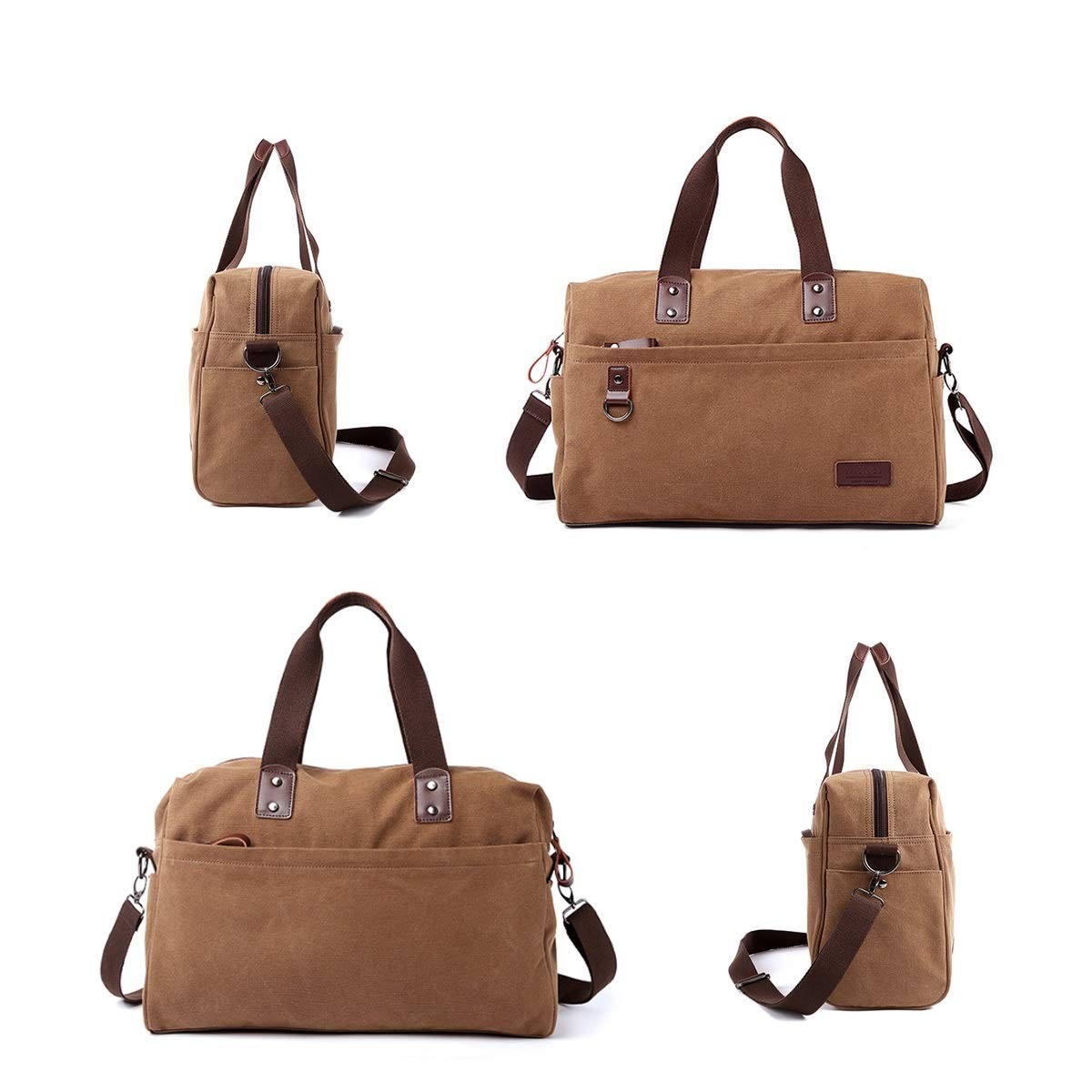 Portable Xionghaizi Duffel Bag Travel Handbag Wearable Large Capacity Classic Brown Waterproof 17 Inches Moving Essential Travel