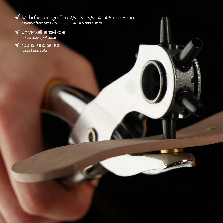 Pince /à poin/çonner Revolver pour perforer com-four/® Pince /à poin/çonner avec Pinces 253 pi/èces poin/çonneuse et Oeillets