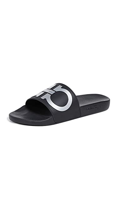 f09abdd7a2a2 Amazon.com  Salvatore Ferragamo Men s Groove 2 Slide Sandals  Shoes