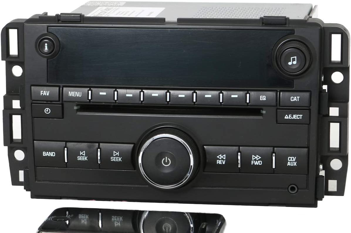 1 Factory Radio AM FM CD Auxiliary Input Bluetooth Radio Compatible with 2007-2009 Chevy GMC Truck 25799567