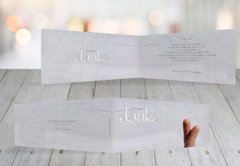 Kartenparadies Danksagung für Hochzeitsgeschenke Hochzeit Dankeskarte Fingerpaar 2, hochwertige Danksagungskarte Hochzeitsglückwünsche inklusive Umschläge   100 Karten - (Format  215x105 mm) Farbe  Hellbraun B01MTBFN7W | Innovation  |