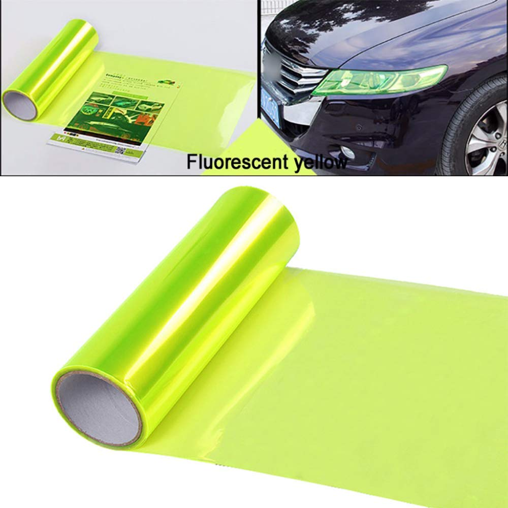 Transparent LEIWOOR 12 X 24 in Auto Car Tint Headlight Taillight Fog Light Vinyl Smoke Film Sheet Sticker Cover Automobiles Decal Car Styling