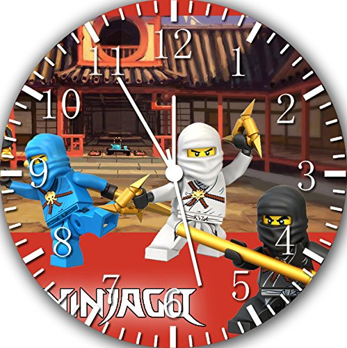 Lego Ninja Ninjago Frameless Borderless Wall Clock W395 Nice For Gift or Room Wall Decor