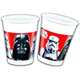 Disney 53858 Star Wars Party Plastic Decoration Cups, 200 ml, 8-Piece