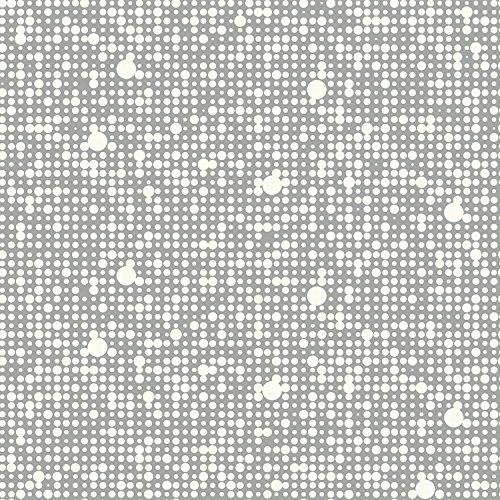 RoomMates RMK9106RL Grey Polka Dot Peel and Stick Wallpap...