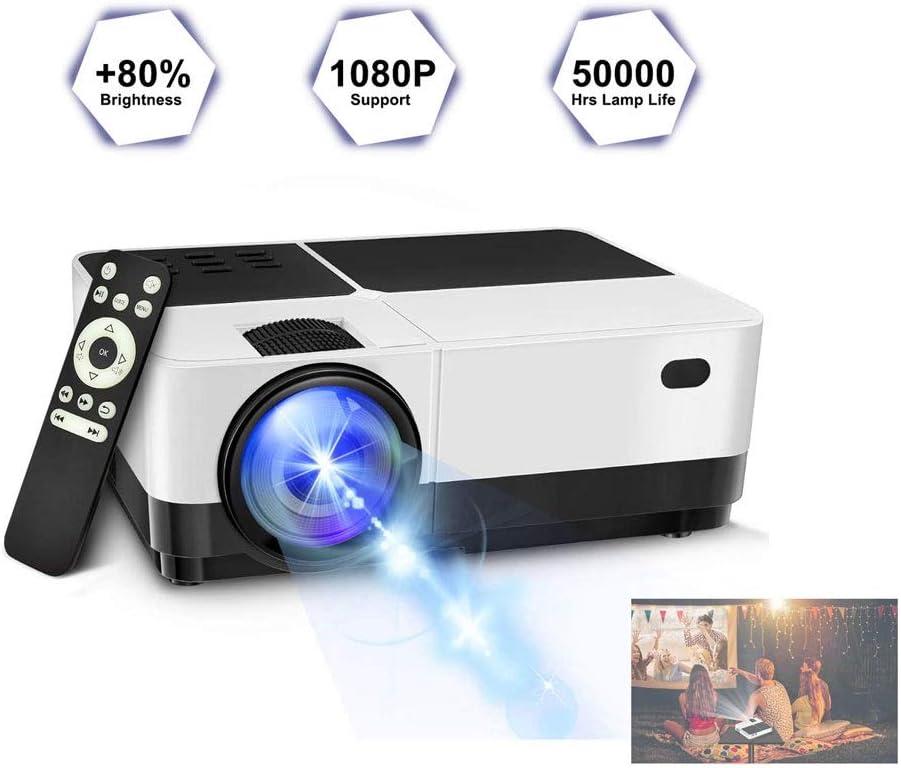 GJZhuan H2 1080P Inicio HD Entretenimiento Proyector De Cine Mini ...