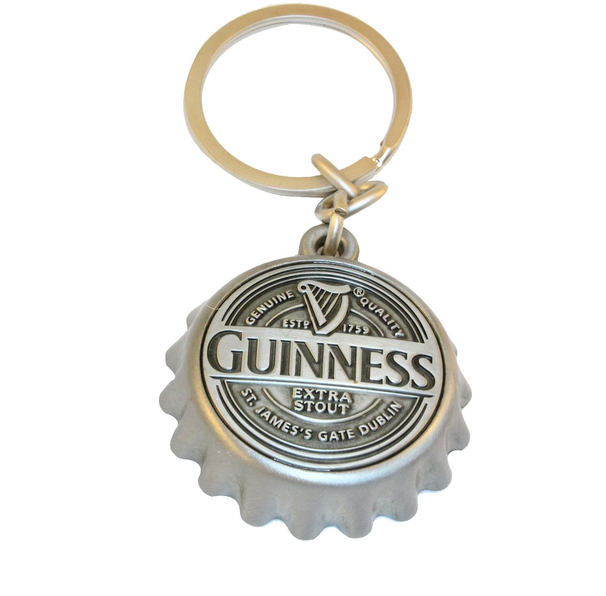 Guinness Keychain With Guinness Bottle Cap Embossed With Guinness Logo GNS2080